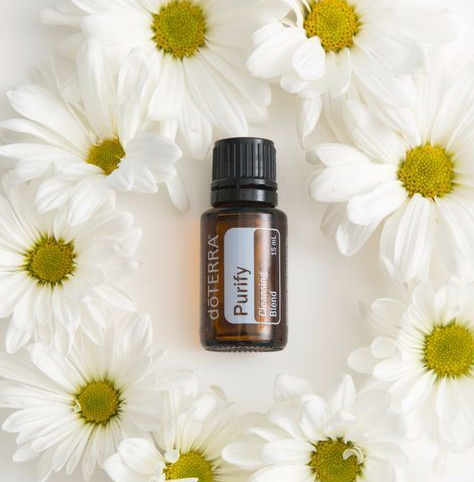 Purify is a doTERRA essential oil blend composed of select essential oils known for their cleansing, purifying, and protecting properties